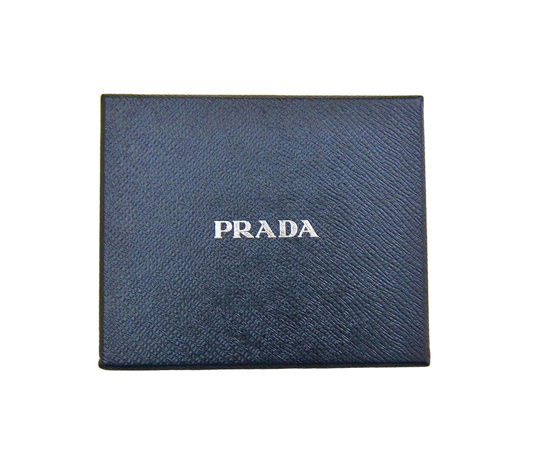 a0985f745b01 Prada Men's Black Vitello Grain Leather Bifold Money Clip Wallet 2MN077:  Amazon.co.uk: Luggage