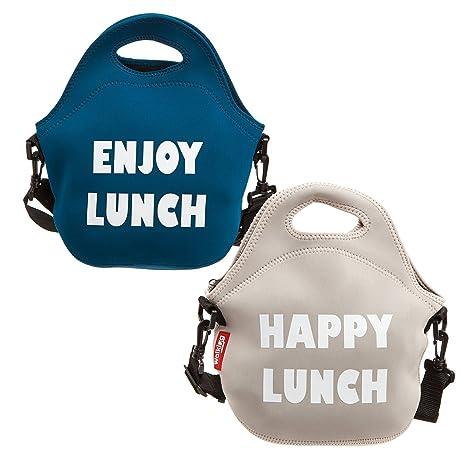 Bergner Set de 2 bolsas porta-alimentos de Neopreno. Reutilizable. 30 x 30 x 17 cms.