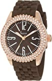 Freelook Women's HA5339RG-2 Brown Face Stainless Steel Rose Gold Case Swarovski Bezel Watch