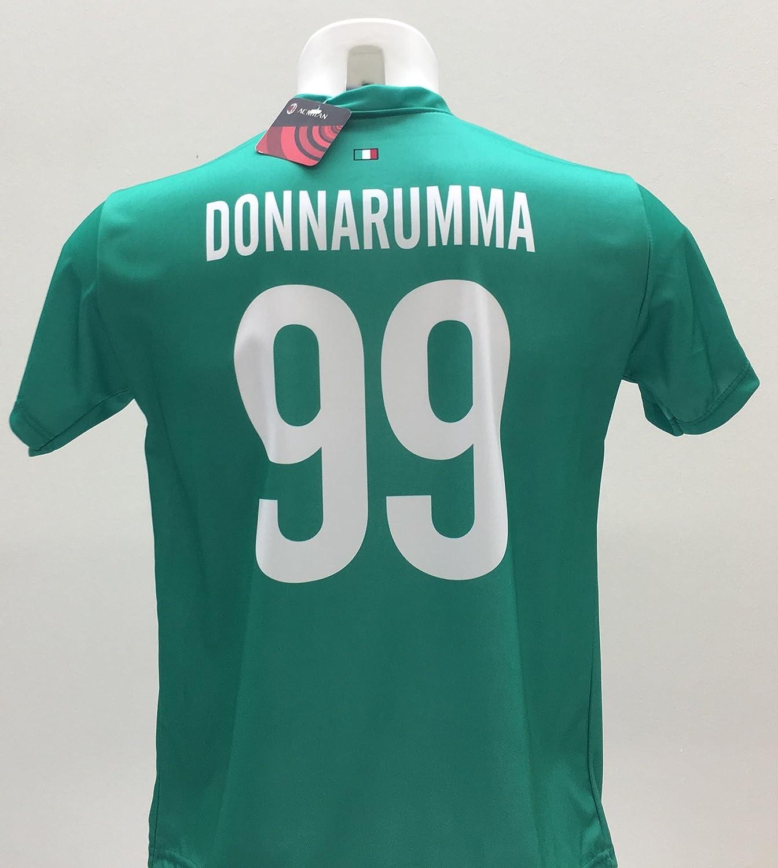 Maglia Calcio Donnarumma 99 Milan Replica Autorizzata 2017-2018 Bambino (Taglie 2 4 6 8 10 12) Adulto (S M L XL) Perseo Trade