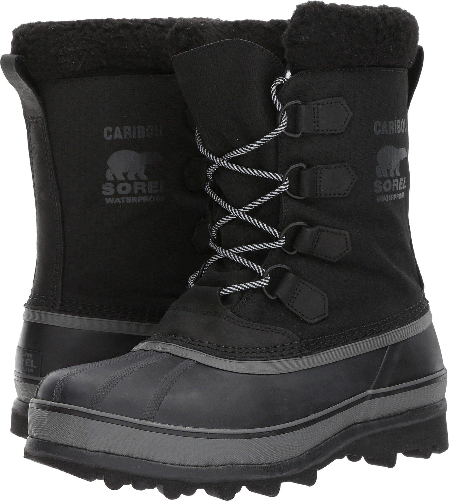 Sorel Men's Caribou Reflective WL Boots, Black, 12 D(M) US