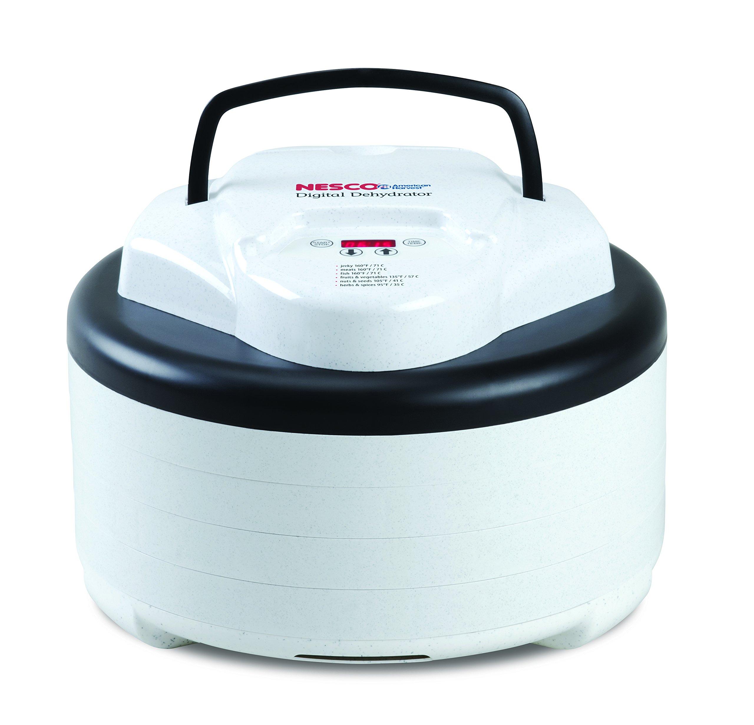Nesco FD-77DT Digital Food Dehydrator, White - MADE IN USA