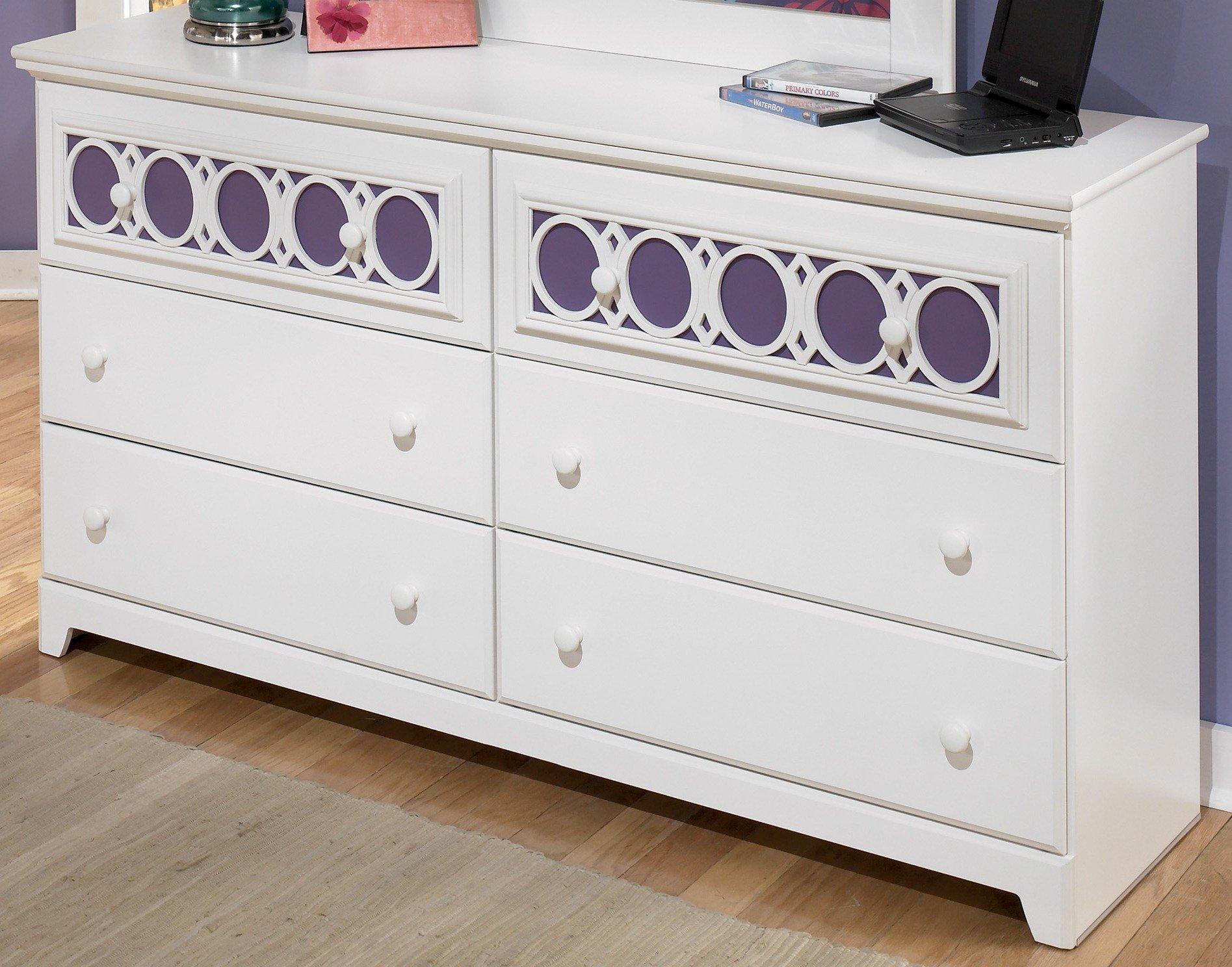 Ashley Furniture Signature Design - Zayley Dresser - 6 Drawers - Engineered Wood - White by Signature Design by Ashley