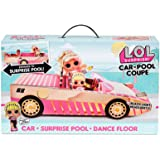 LOL Surprise Car Pool Coupe with Exclusive Doll, Surprise Pool, and Dance Floor - Toy Car Playset with Black Light Headlight