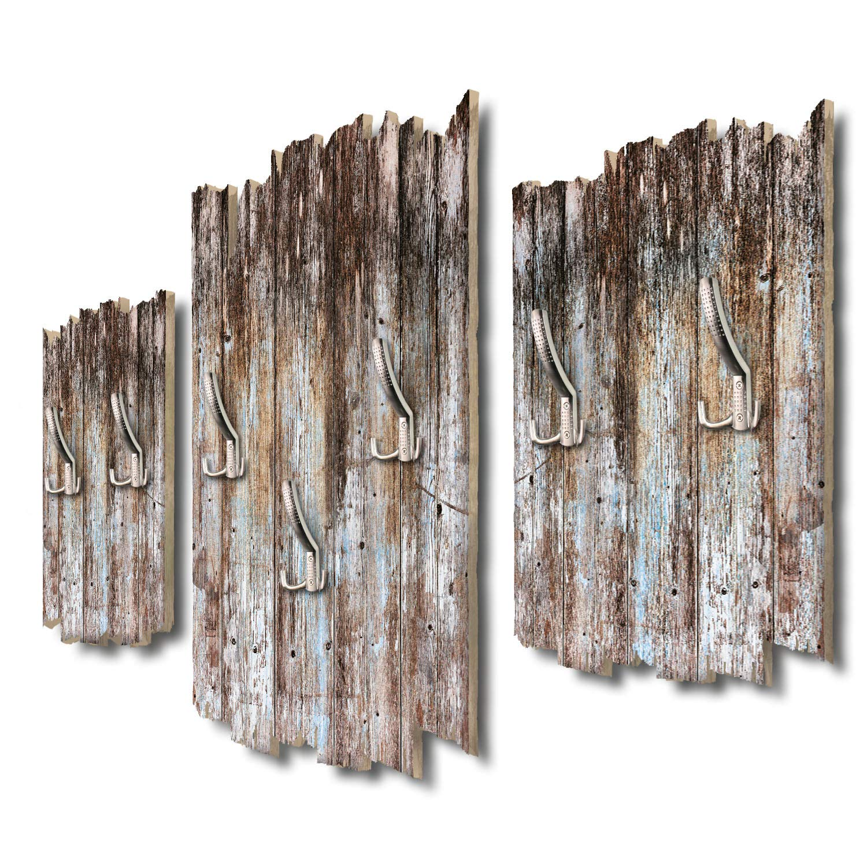 Kreative Feder Holzoptik dunkel Designer Wandgarderobe Flurgarderobe Wandpaneele 95 x 60 cm aus MDF DTGH123