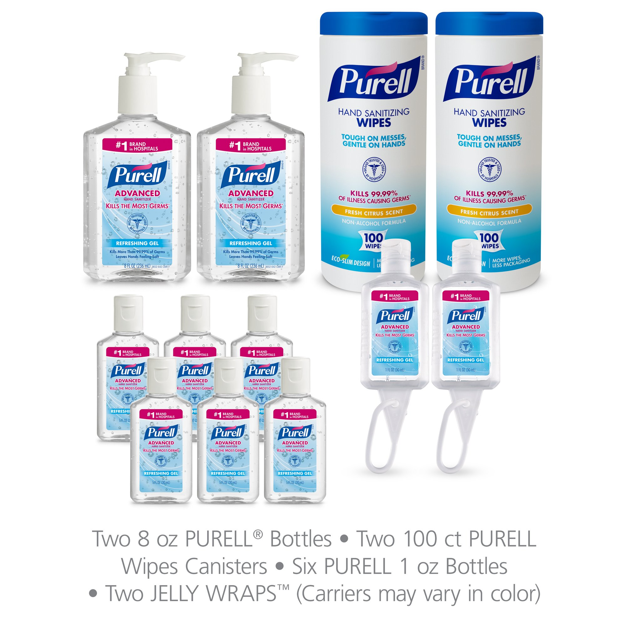 PURELL 9652-K1 Advanced Hand Sanitizer and Sanitizing Wipe Kit by Purell