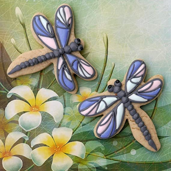 Details about  /DRAGONFLY OUTLINE FLYING INSECT BUG GOOD LUCK SPECIAL COOKIE CUTTER USA PR3443