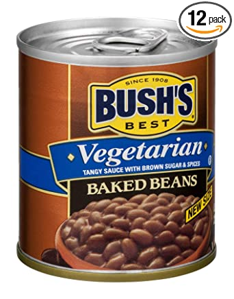 Amazon Com Bush S Best Vegetarian Baked Beans 8 3 Ounce Can Pack Of 12 Canned Beans Baked Beans Canned Vegetarian Food Kosher Source Of Plant Based Protein And Fiber Low Fat Gluten Free