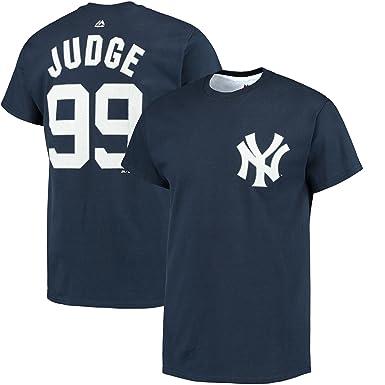 buy popular 7c66f 81b46 Amazon.com: Majestic Athletic Men's Aaron Judge Navy New ...