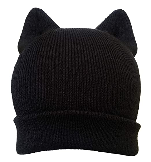 2e3fa1285f0 Pussy cat hat Pussycat black ear men women US Handmade Women s March pussy cat  hat beanie