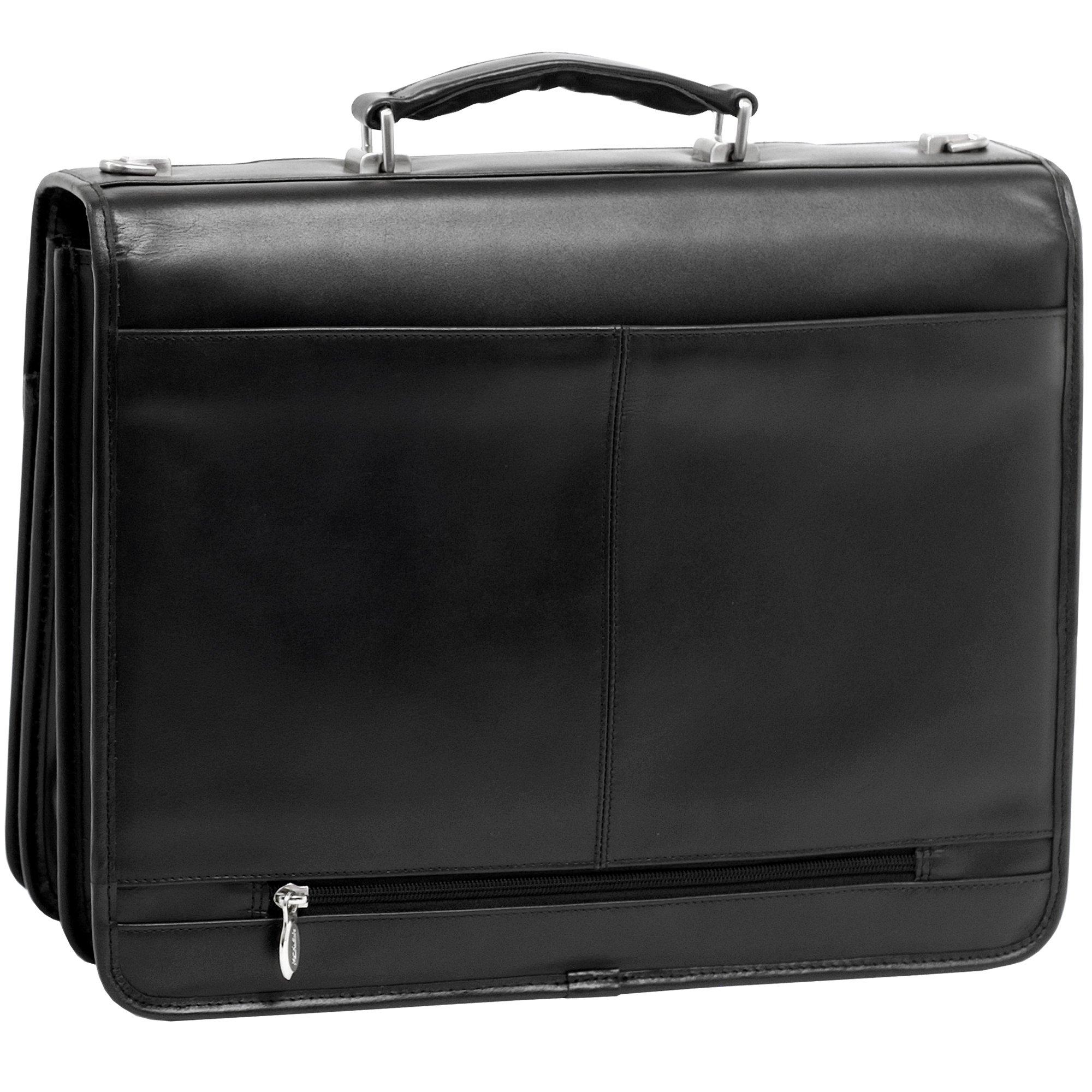 McKlein, V Series, FLOURNOY, Top Grain Cowhide Leather, 15'' Leather Double Compartment Laptop Briefcase, Black (85955) by McKleinUSA (Image #2)