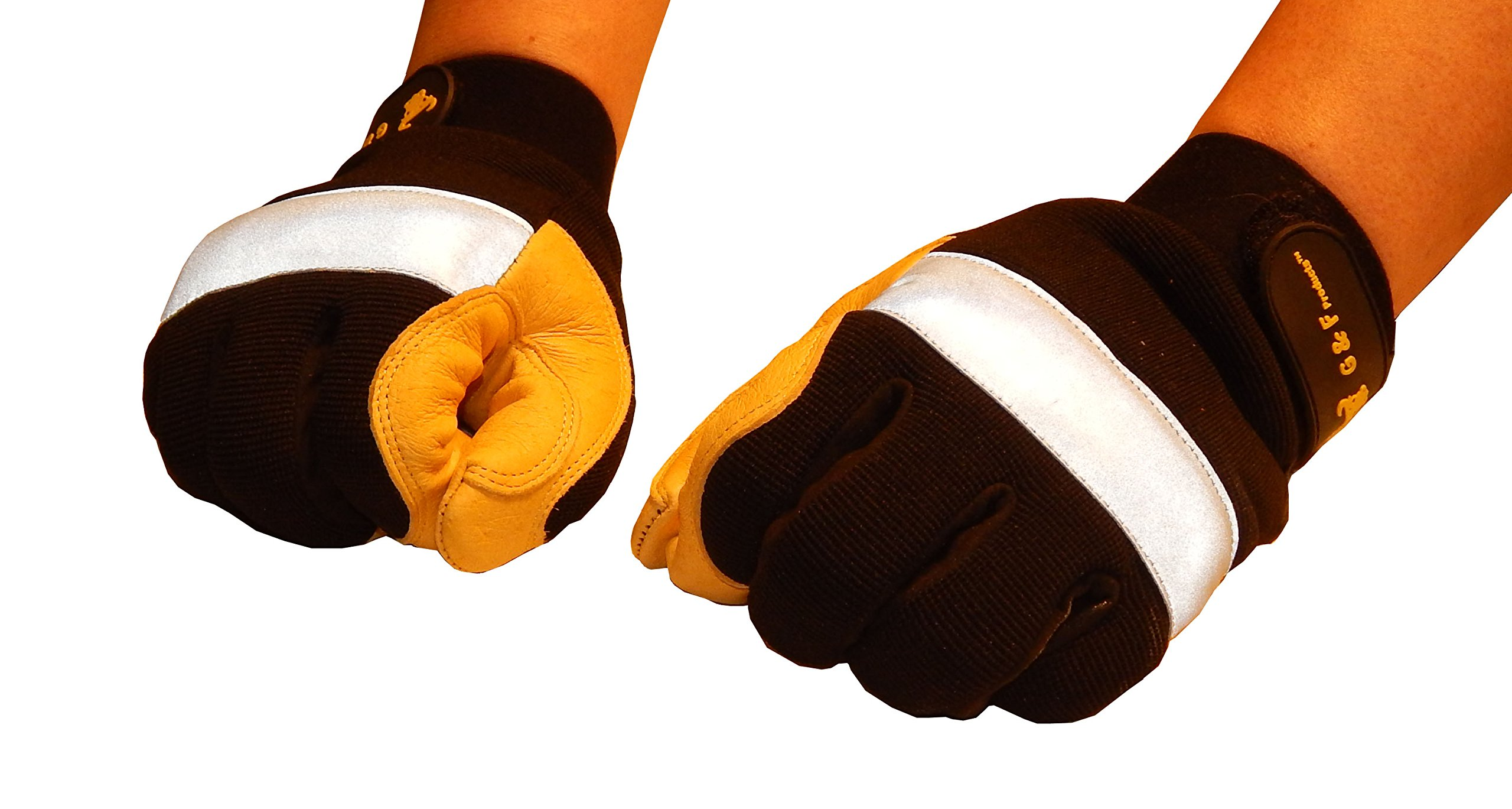 GF Gloves 1091XL-12 Dark Owl High Visibility Reflective Performance Gloves, X-Large, Yellow (Pack of 12) by GF Gloves (Image #3)