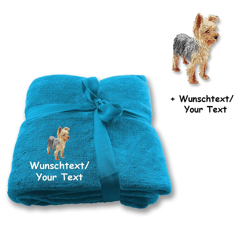 molto popolare Sconosciuto Coperta Yorkshire Terrier Terrier Terrier M2 + testo desiderato  nuovo di marca