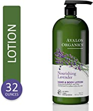Avalon Organics Nourishing Lavender Hand & Body Lotion, 32 oz.