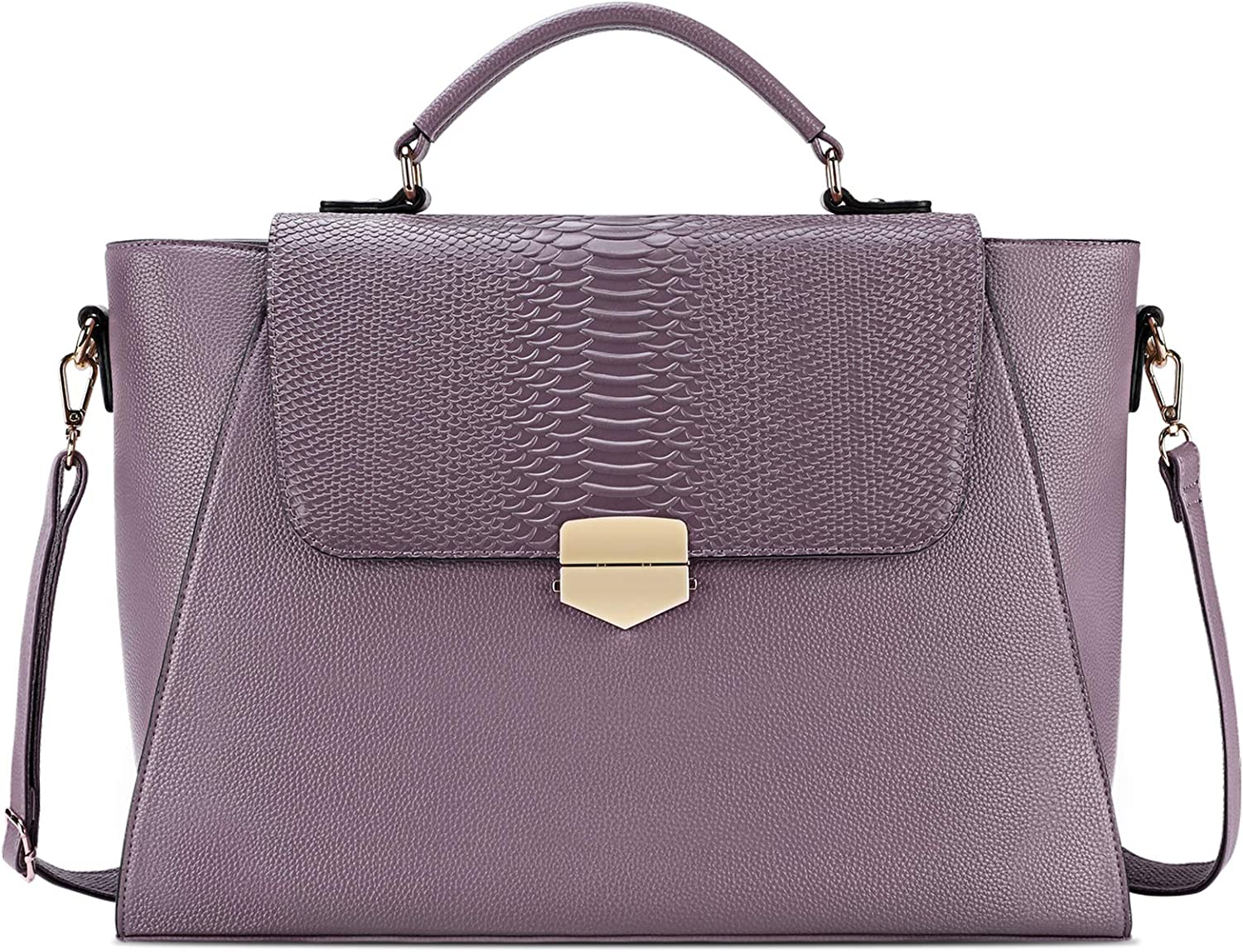 Briefcase for Women 15.6 Laptop Bag Business Messenger Bag Work Tote Bag Professional Shoulder Purse with Padded Compartment for Tablet Notebook Ultrabook Purple