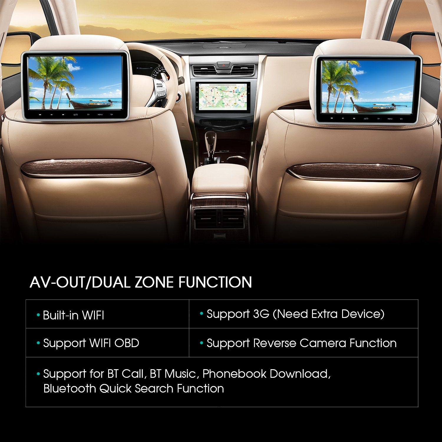 7 Inch Android 60 Marshmallow Car Stereo 2 Din In A Band Equalizer To Wiring Diagram Dash Gps Navigation Bluetooth Radio Support Phone Mirror Usb Cam Obd2 3g