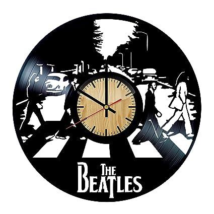 Amazon.com: The Beatles diseño vinilo – Reloj de pared hecho ...