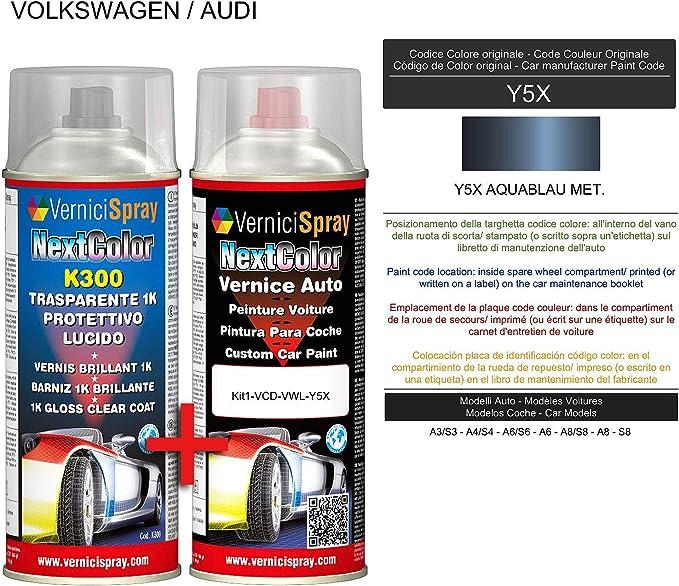 Autolack Spray Set Y5x Aquablau Met Und Klarlack Glänzend Spray Kit Metallic Lack 400 400 Ml Spraydose Baumarkt