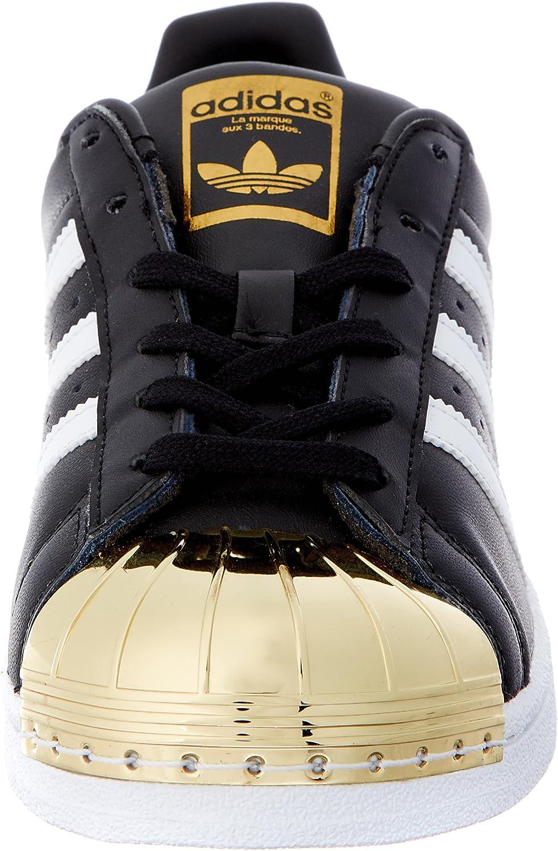adidas Damen Superstar Metal Toe Sneaker Schwarz (Core Black/Footwear White/Gold Metallic)