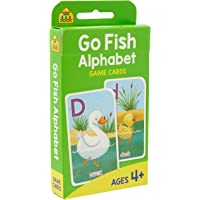 School Zone Go Fish Alphabet Game Cards (new cover)