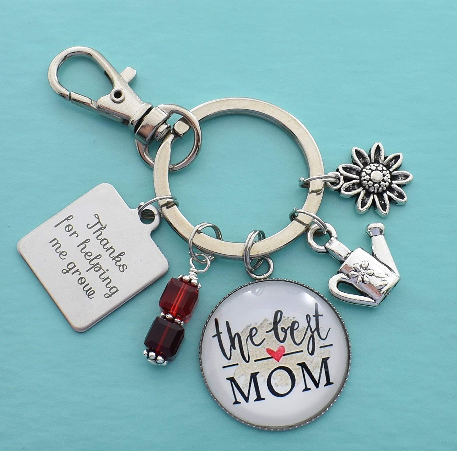 Stainless Steel Pendants Mothers Day Gifts Keychains Keyring Women Men Key Chain
