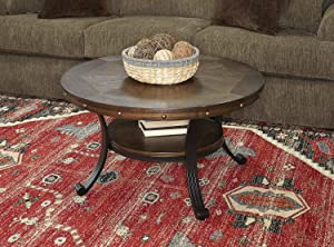 Powell Furniture Franklin Cocktail Table (.! (Dark Brown))