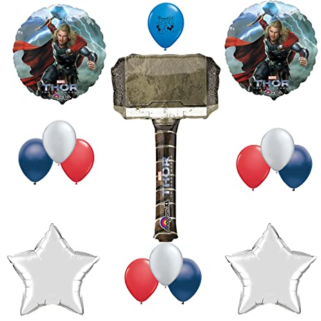 amazon com thor hammer birthday party supplies balloon decoration