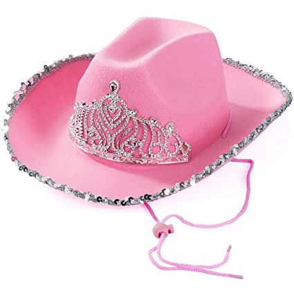 4c3e694f8884e Amazon.com  Cowgirl Hat - Princess Cowboy Hats for Women by Funny Party Hats   Toys   Games