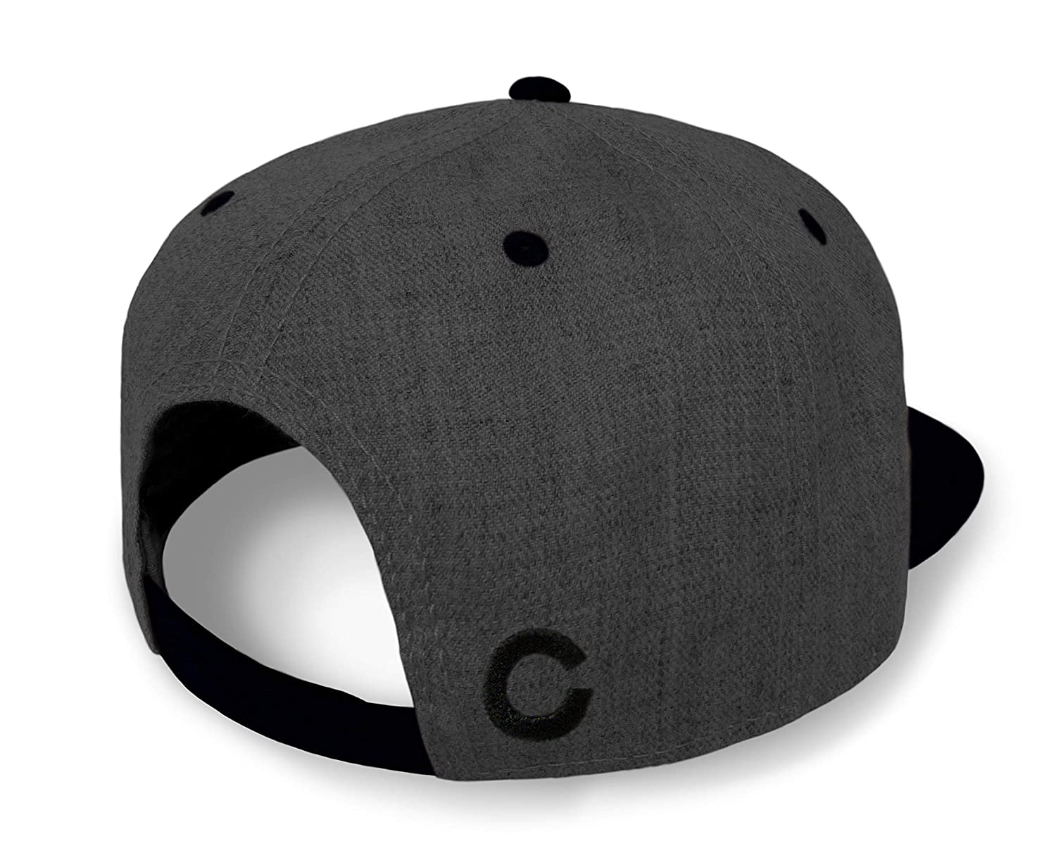 Strange Cargo Tees Colorado Flag Hat Baseball Cap Flat Brim Black Grey