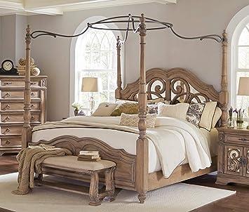 Amazon.com: Coaster Ilana 4 Piece King Mirrored Canopy ...