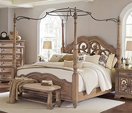 Amazon.com: Coaster Home Furnishings 205071KE Canopy Bed ...