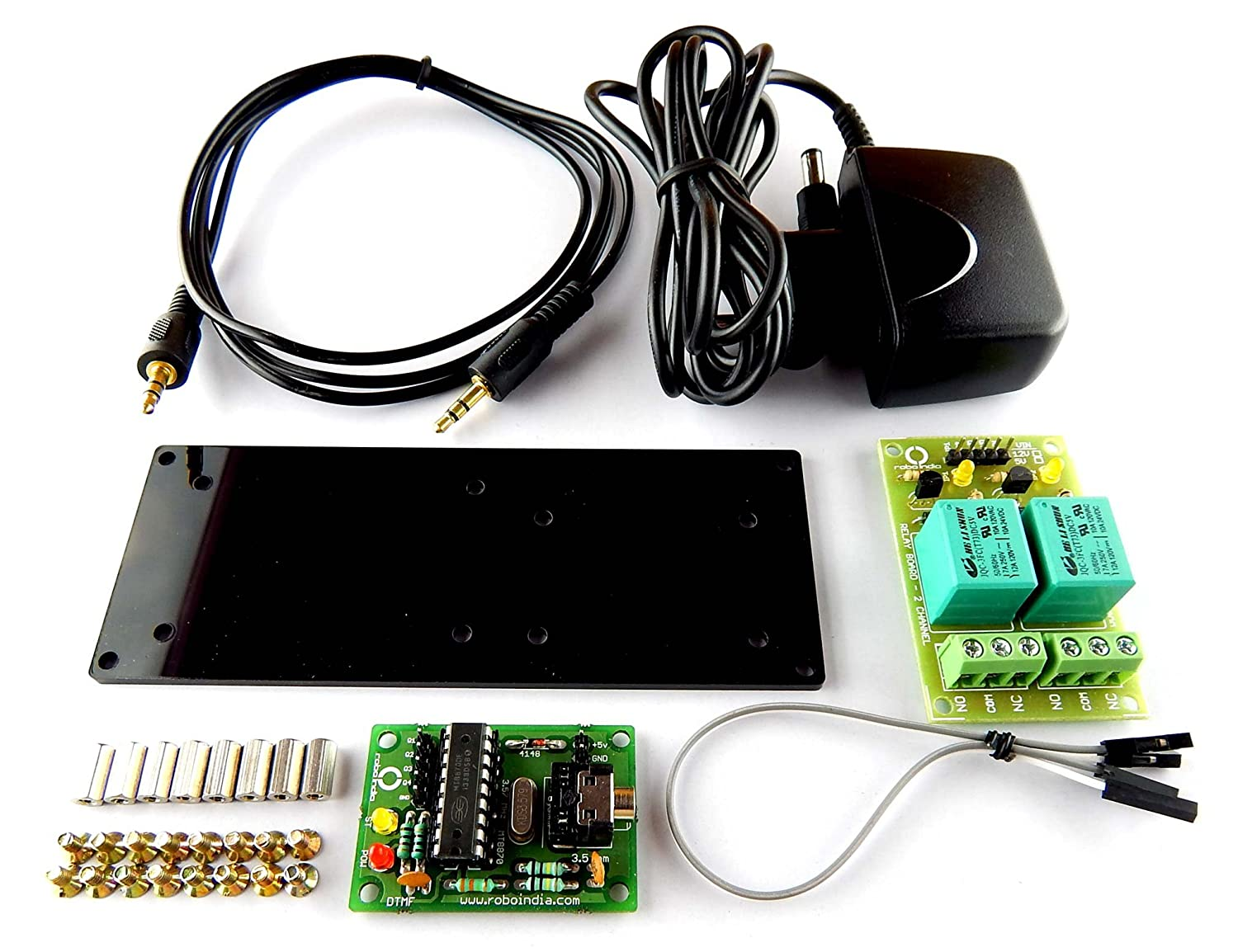 Robo India Dtmfk 02 Simple Dtmf Home And Industry Automation Kit 2 Based Remote Control System Devices Mobile Phone Industrial