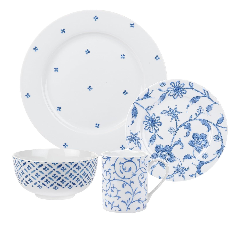 sc 1 st  Amazon.com & Amazon.com | Spode Blue Indigo - 16 Piece Set: Dinnerware Sets