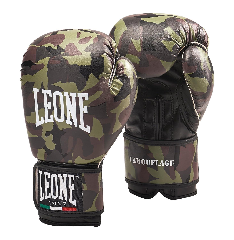 Guantes de boxeo Leone onzas de camuflaje verde