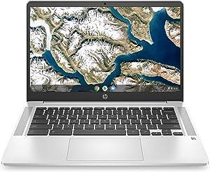 "HP Chromebook 14 - 14"" HD Non-Touch Intel Pentium Silver N5000, Intel UHD Graphics 605, 4GB RAM, 64GB eMMC, WiFi, Bluetooth, Audio by B&O, Chrome OS (Renewed)"