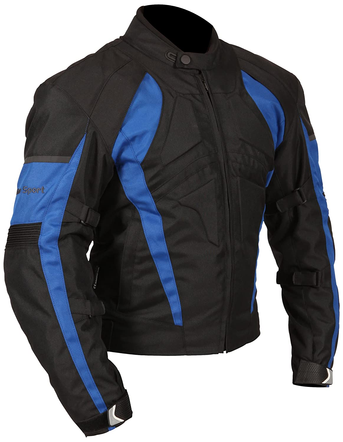Amazon.com: Milano Sport Gamma Motorcycle Jacket with Blue Accent (Black, Large): Automotive