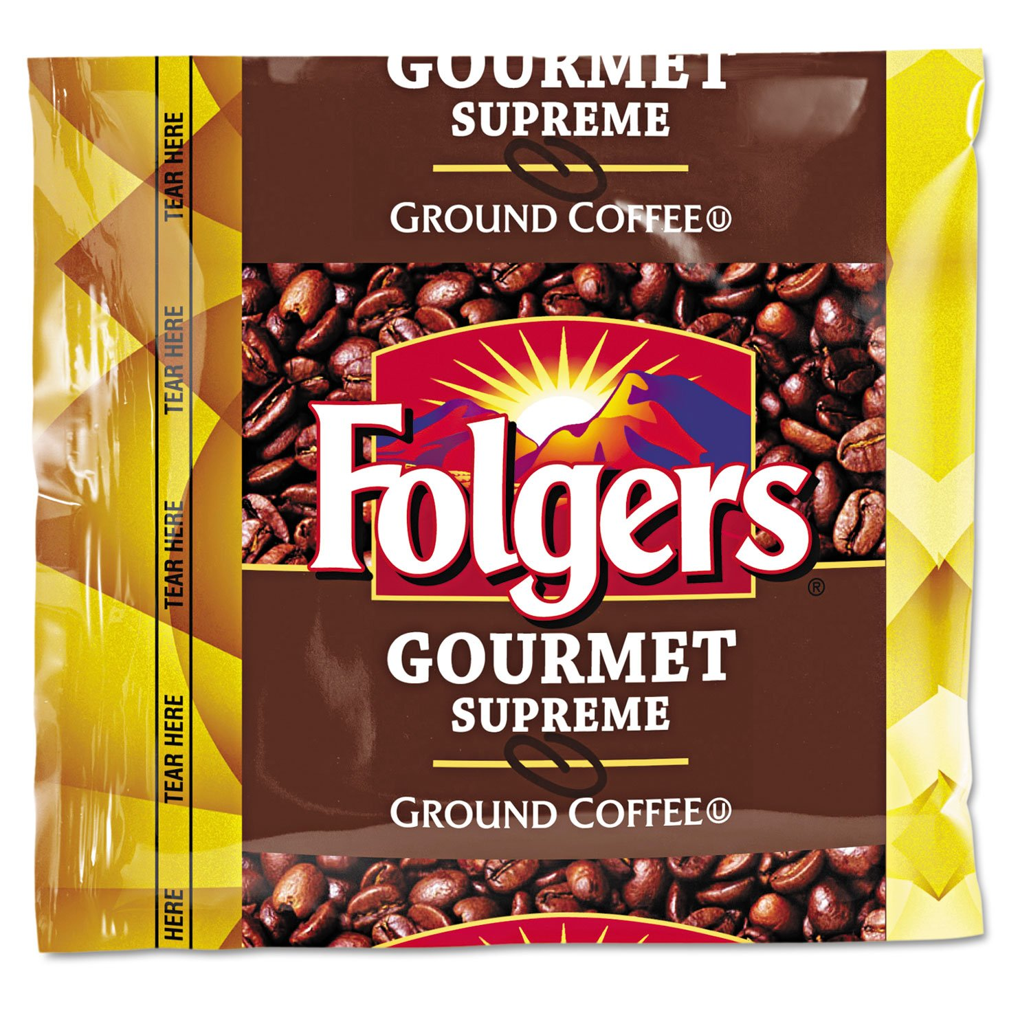 Folgers 06437 Coffee, Fraction Pack, Gourmet Supreme, 1.75oz, 42/Carton by Folgers (Image #1)