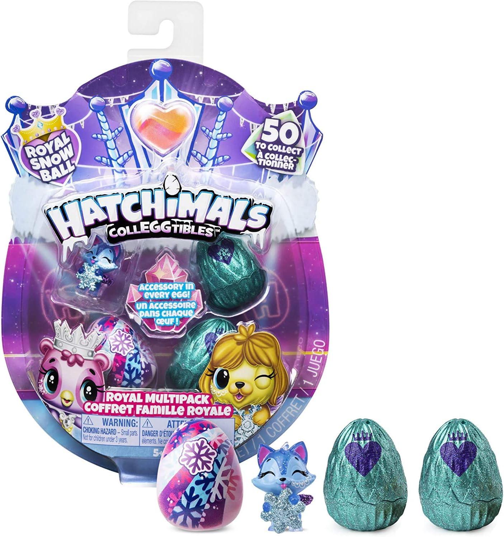 Hatchimal - CollEGGtibles - 4-Pack - Royal Snowball