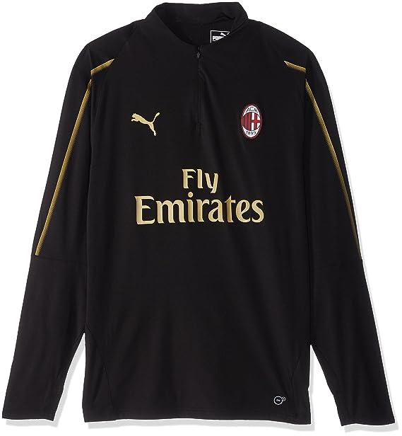 e3954dae24b42 Puma AC Milan 1 4 - Playera para Hombre con Bolsillos con Cierre ...