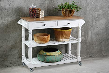 Amazon Com Sunset Trading Shabby Chic Cottage Kitchen Island