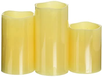 Amazon.com: Glow Candles – Flameless Color-Changing Candles, 3 ...