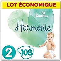 Pampers - Harmonie - Couches Taille 2 (4-8kg) - Lot économique de 108 couches (4x27 couches)