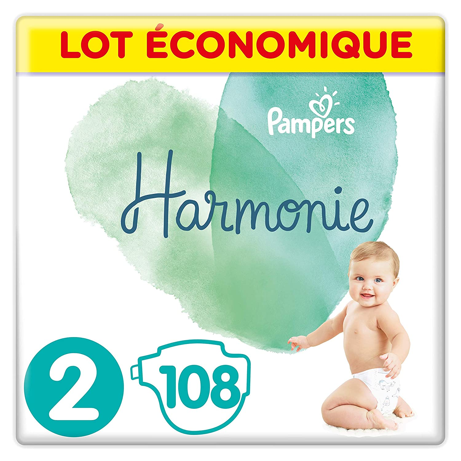 Pampers - Harmonie - Couches Taille 5 (11-16kg) - Lot é conomique de 102 couches (6x17 couches) 81673944