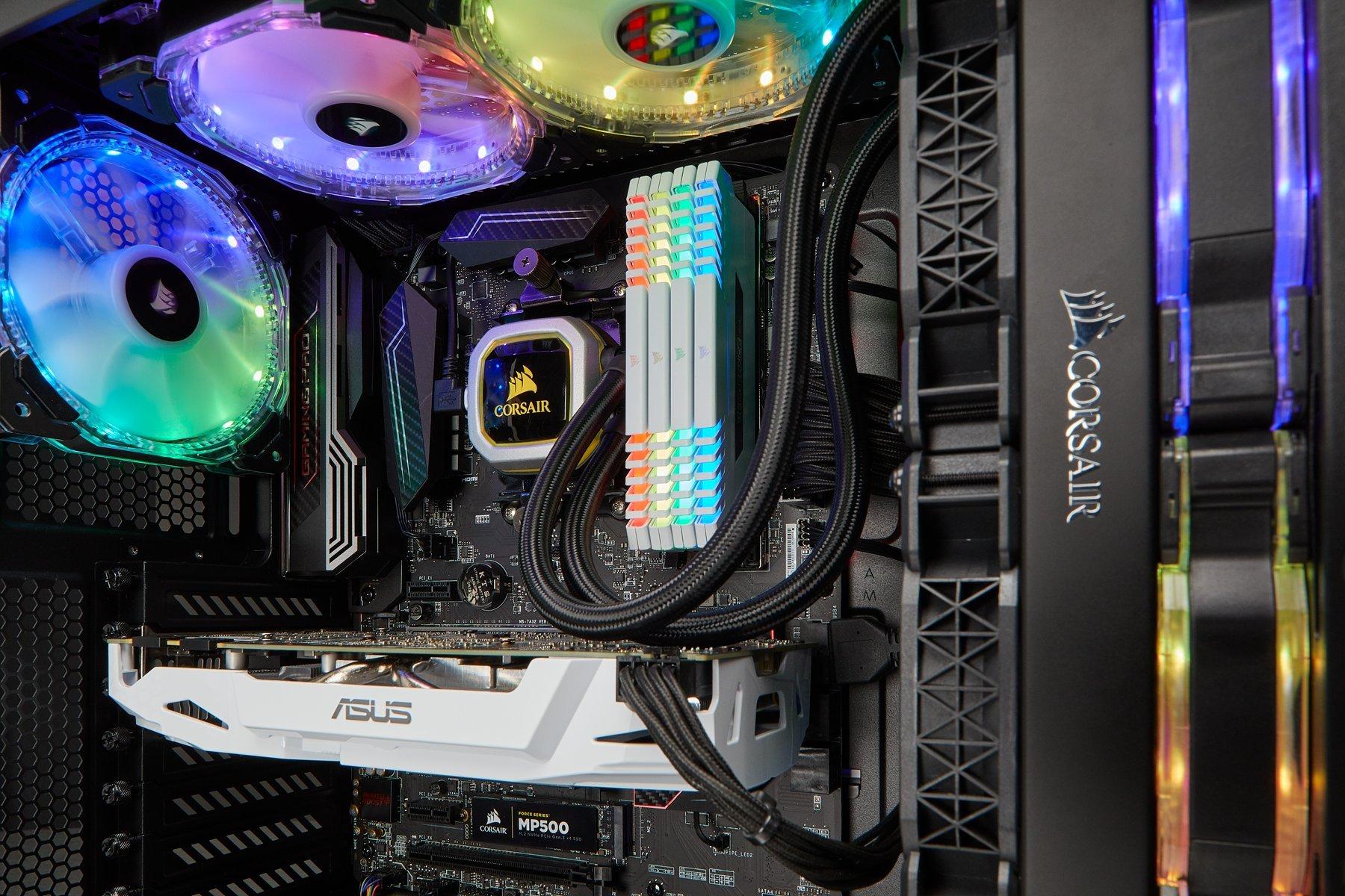 CORSAIR HYDRO Series H100i PRO RGB AIO Liquid CPU Cooler, 240mm, Dual ML120 PWM Fans, Intel 115x/2066, AMD AM4 by Corsair (Image #21)
