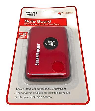 promo code c0587 fd65e Amazon.com | Sharper Image RED Safe Guard RFID Blocking Credit Card ...