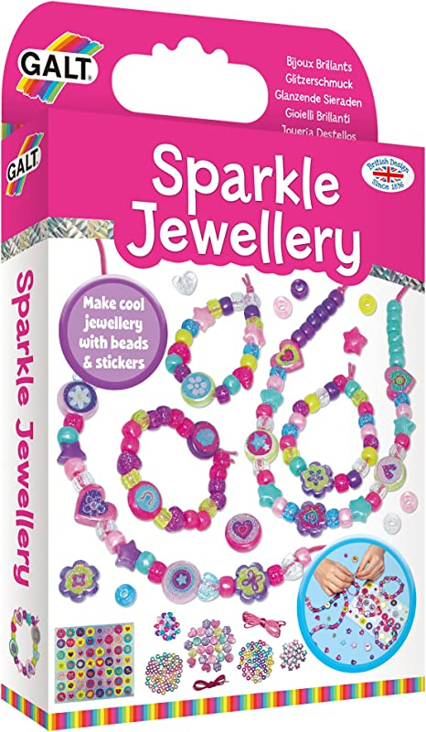 Galt Toys Sparkle Jewellery Make Cool Jewellery With Sparkly Beads
