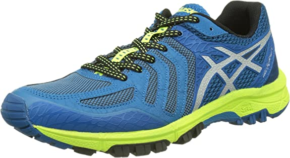 Asics Gel-FujiAttack 5, Zapatillas de Trail Running para Hombre, (Thunder Blue/Silver/Safety Yellow), 48 EU: Amazon.es: Zapatos y complementos