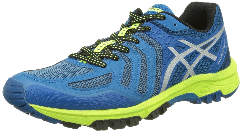 Asics Gel-FujiAttack 5, Zapatillas de Trail Running para Hombre 42.5 EU|Varios Colores (Thunder Blue / Silver / Safety Yellow)