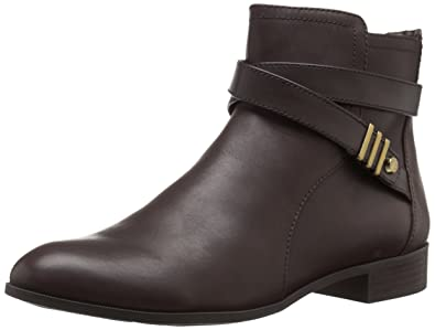 Anne Klein Women's Kael Leather Boot, Brown, ...