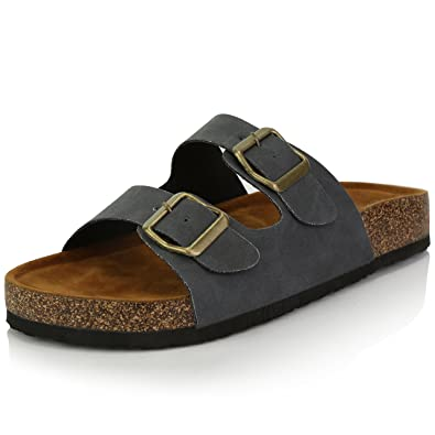 fb84885b199c DailyShoes Women s Fashion Buckle Flat Casual Adjustable Strap Sandal Shoes